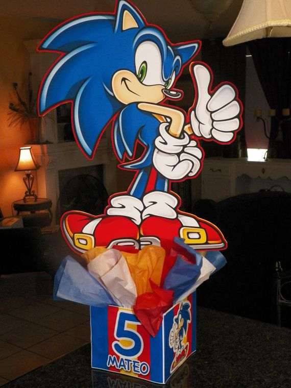 Sonic the Hedgehog Sega BALLOON ARCH with COLUMNS Birthday Party Decorations