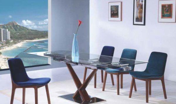 Salle A Manger Chaises Table De Repas Chaise Bleu Les