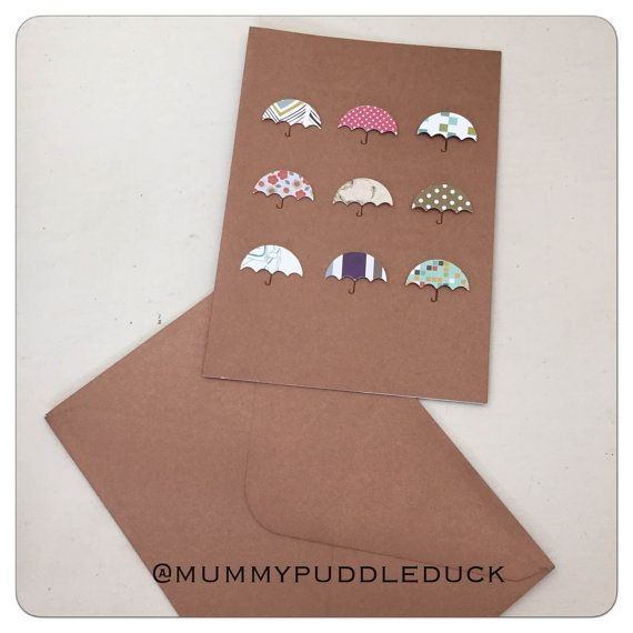 Handmade umbrella card - Bronze by mummypuddleduck on Etsy #onlinecraft #handmade #umbrella #cardHandmade umbrella card by mummypuddleduck on Etsy