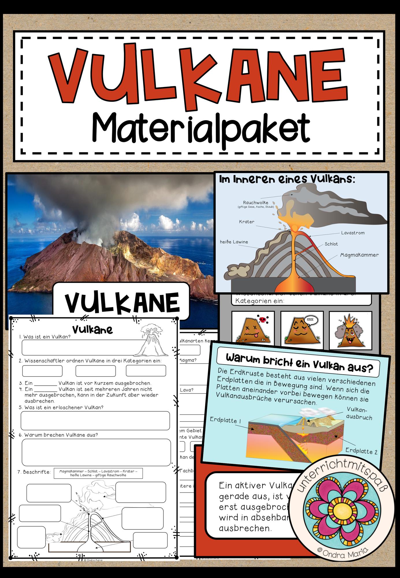 Vulkane Materialpaket Montessori 16 Fact Cards 6 Arbeitsblatter 24 Prasentationsfolien Experiment Unterrichtsmaterial Im Fach Erdkunde Geographie Unterrichten Erdkunde Unterrichtsmaterial