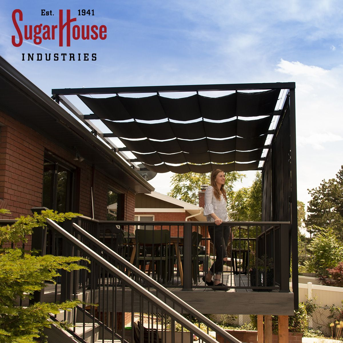 Enjoy Your Deck Or Patio All Year Round With Custom Shade Solutions From Sugarhouse Industries Check Out Our Full Residential Awnings Awning Shade Residential