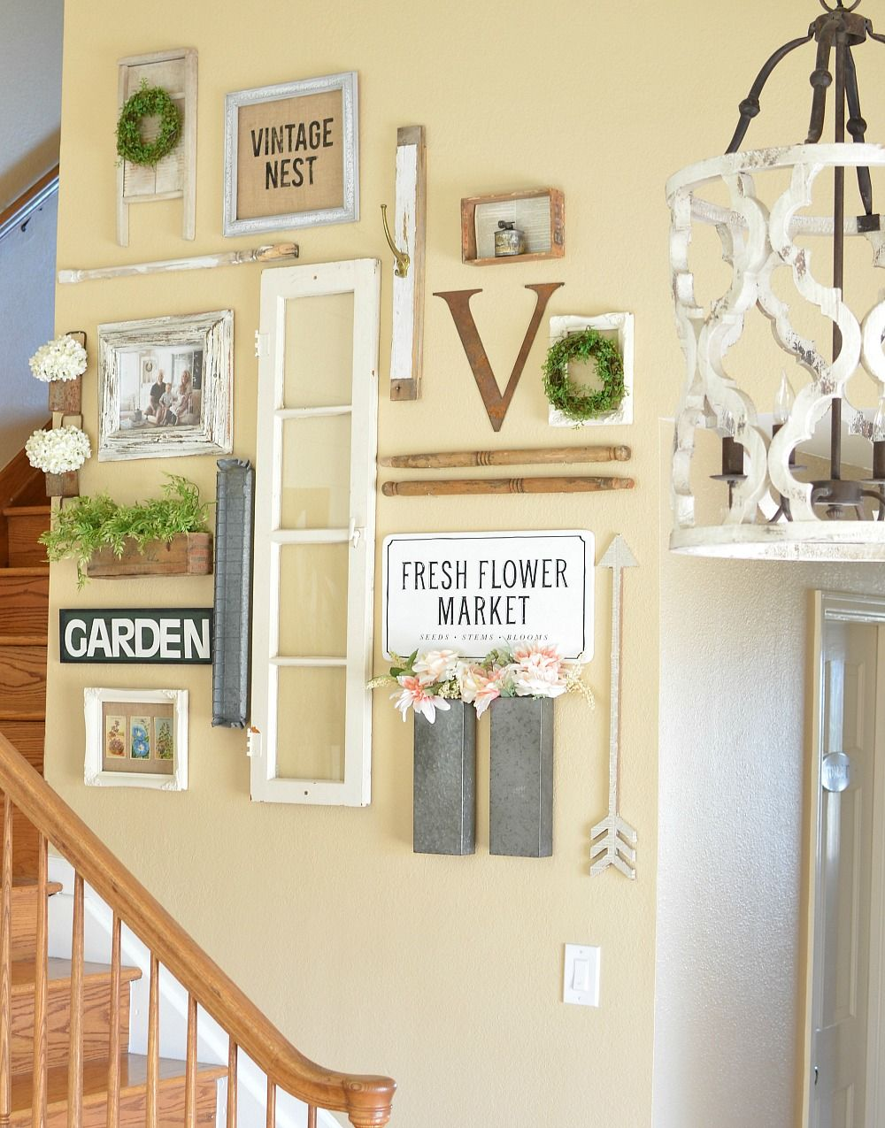 Farmhouse Style Gallery Wall for Spring | decorating ideas ...