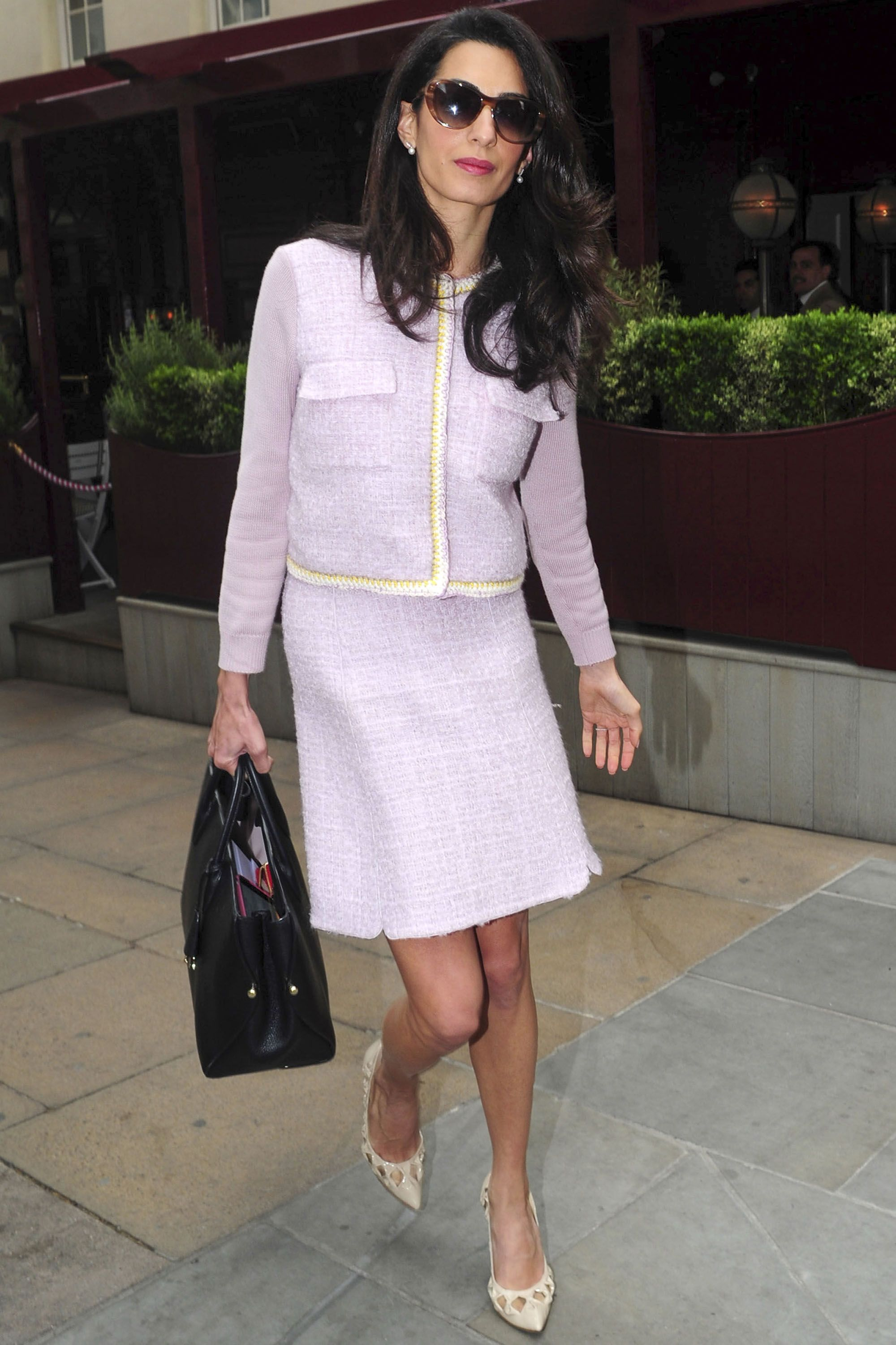 Amal Clooney Just Spoke to College Students in a Bold Blue ...
