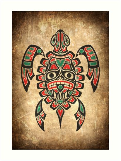 e86ca6cb6f981 This unique design features a Haida inspired sea turtle. The Native pattern  depicts a tribal sea turtle design that is comprised of flowing lines and  ...