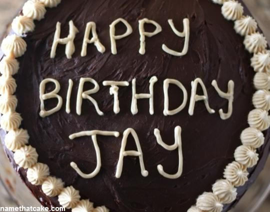 Happy Birthday Jay Cake