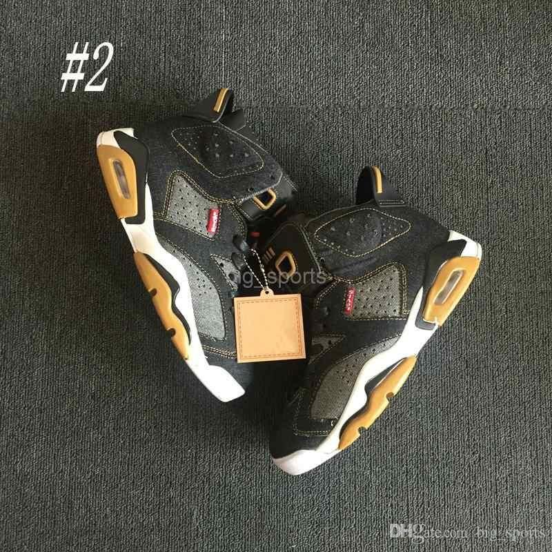 41e35bab0667af 2018 New Denim Jeans 6 Vi 6s Men Basketball Shoes Cheap Blue Black Denim  White Sneakers