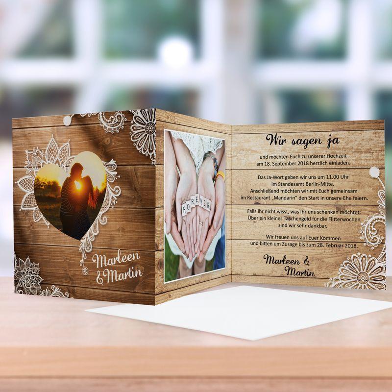 einladungskarte hochzeit wood style in 2019 einladungen hochzeit einladungskarten hochzeit. Black Bedroom Furniture Sets. Home Design Ideas