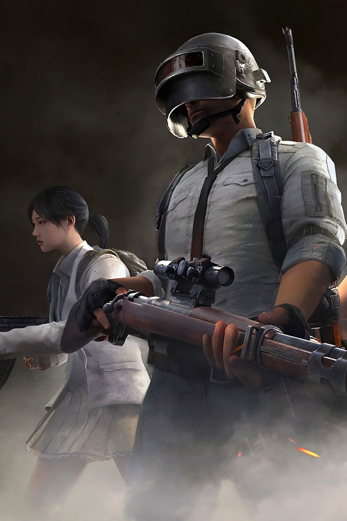 PUBG snipper guns team ready for match mobile wallpaper