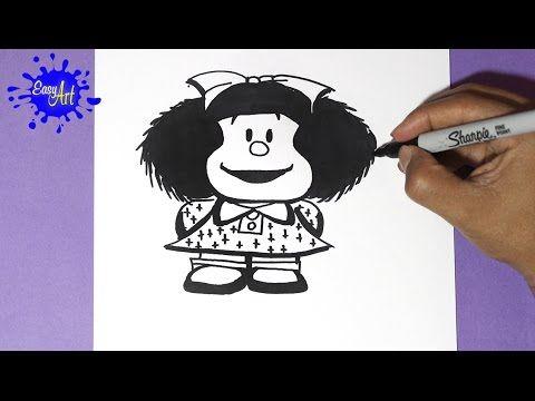Como Dibujar A Mafalda How To Draw Mafalda Drawings Draw Colours
