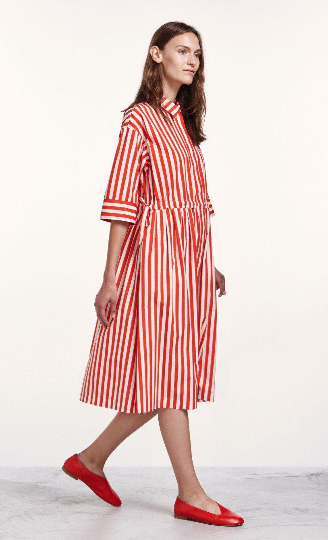 Reimi Tasaraita -mekko - punainen 32ab011c91