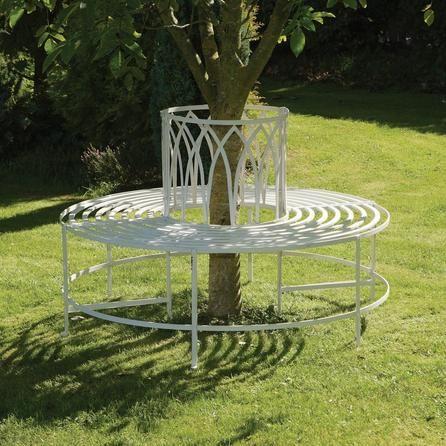Polyanna White Tree Bench Dunelm Tree Seat