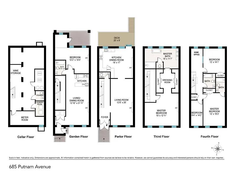 685 Putnam Ave Brooklyn Ny 11221 Zillow In 2020 Wellness Design Townhouse Designs Sliding Pocket Doors
