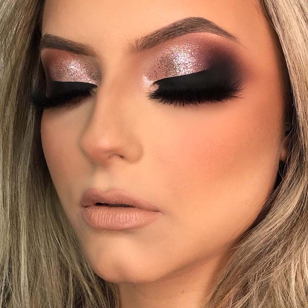 Pink Glam Makeup look for new year 2019 Glam makeup