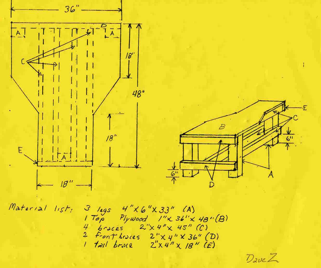 Free Shooting Bench Plans David Zinski Come This Set