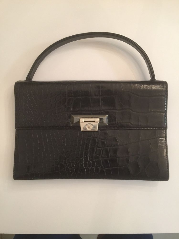 Vintage Gianni Versace Alligator Skin Purse.  fashion  clothing  shoes   accessories  womensbagshandbags (ebay link) 99acd135b4b1b