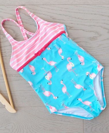 b655faf3a8938a Big Fisch Girls Flamingo Swimsuit | Girl's and Boy's Swimwear - Ages ...