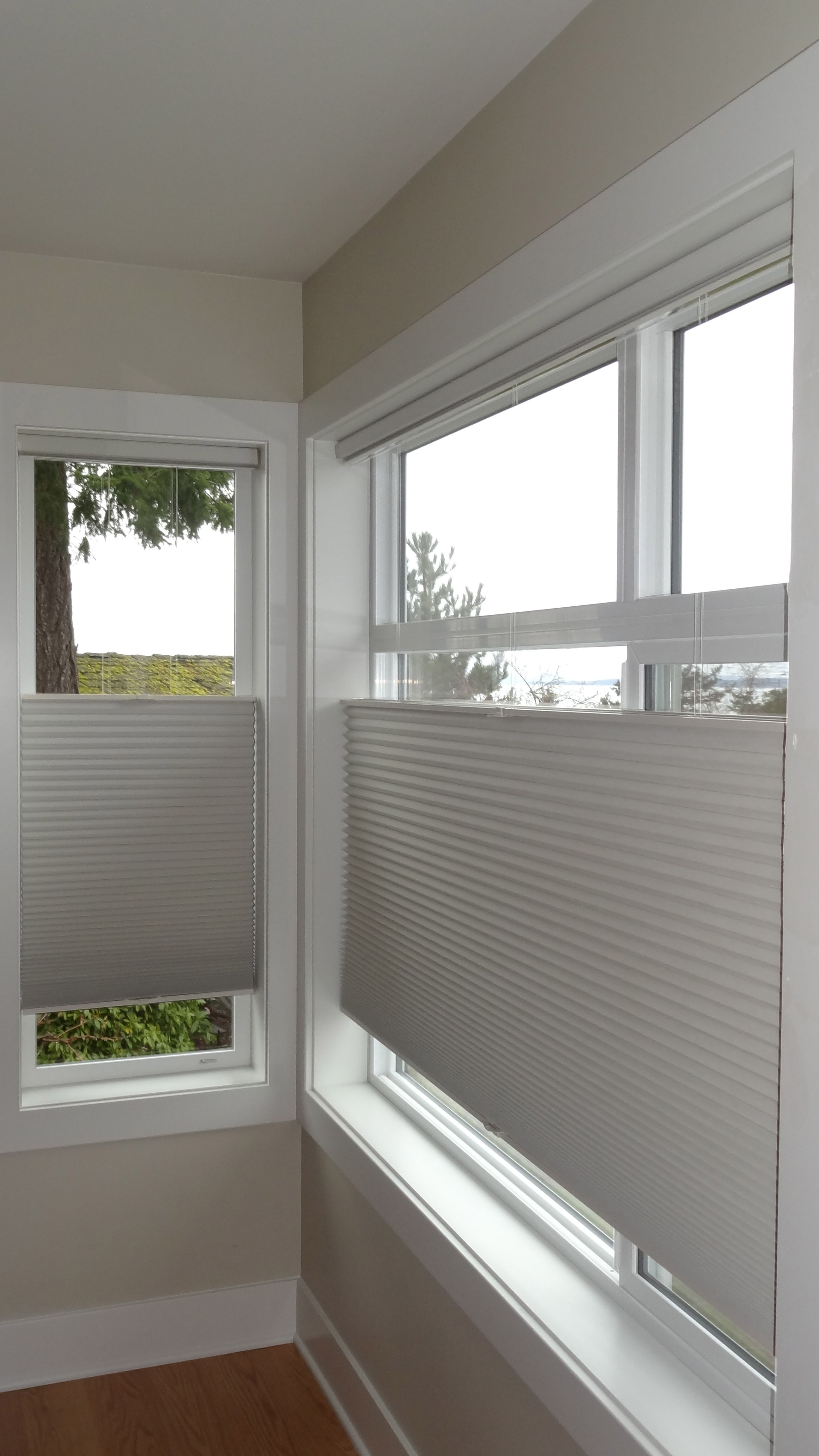 Hunter Douglas Top Down Bottom Up Honeycomb Shades Cordless Bathroom Window Coverings Curtains With Blinds Honeycomb Shades