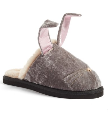 cute grey bunny slippers