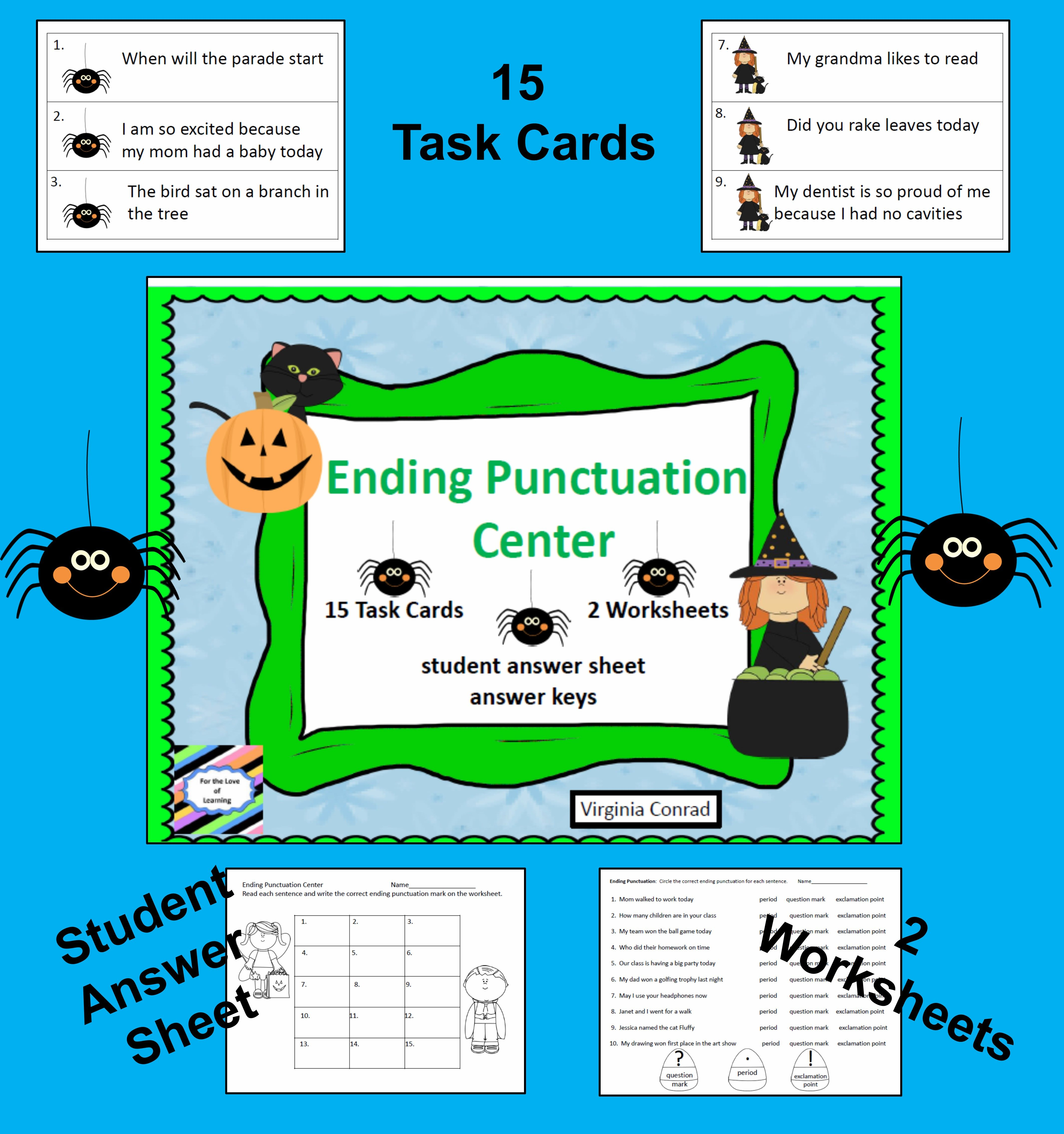 Ending Punctuation Center Halloween Graphics