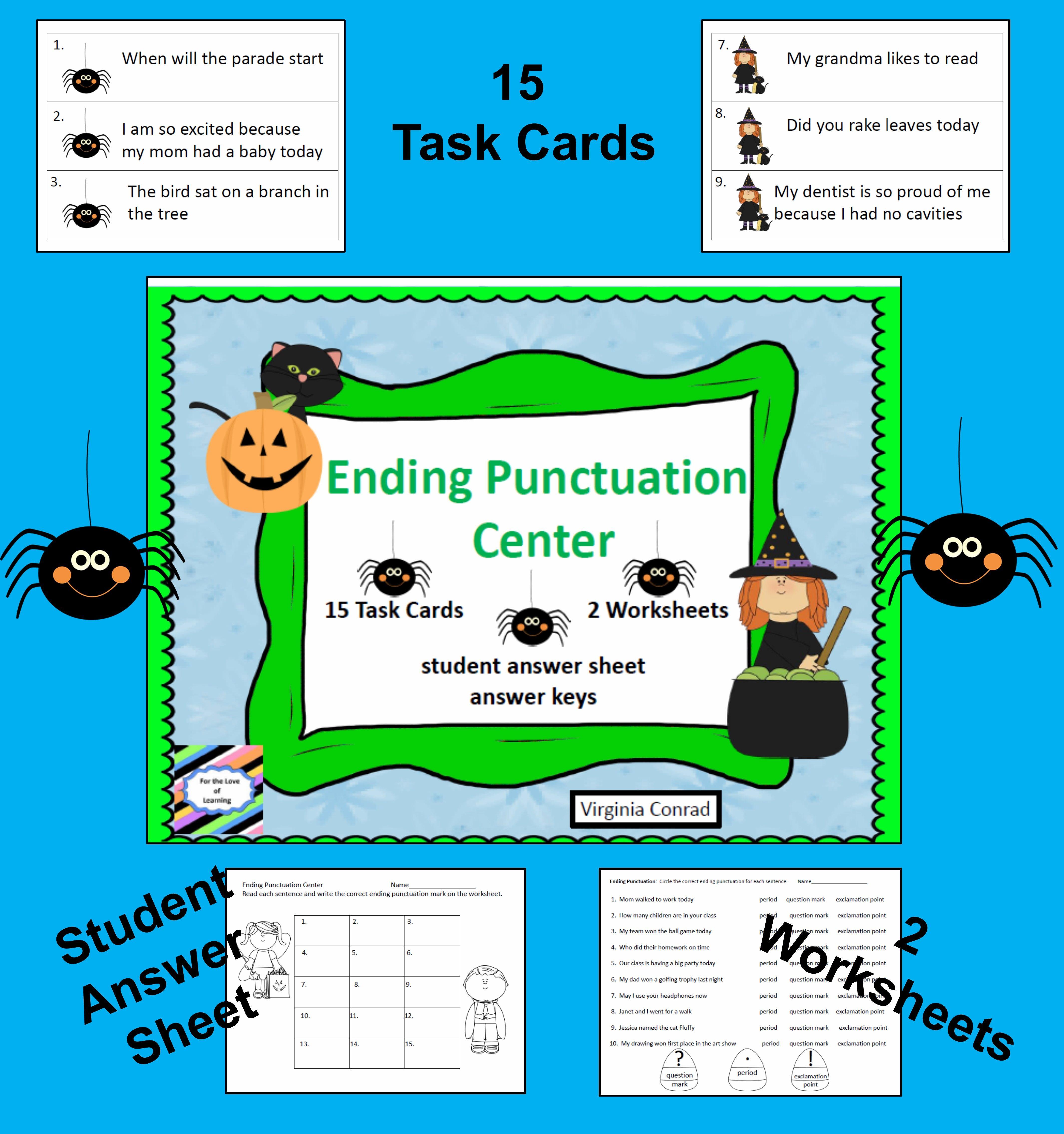 Ending Punctuation Center Halloween Graphics
