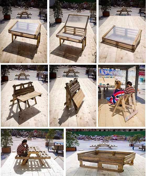 ECO-IDEAS Y RECICLAJE : Muebles con Palets Reciclados, Paso a Paso ...