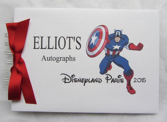 Personalised Superhero  MARVEL   Captain by JustForYouGuestbooks Paper Bag  Scrapbook 8989e1be580ee