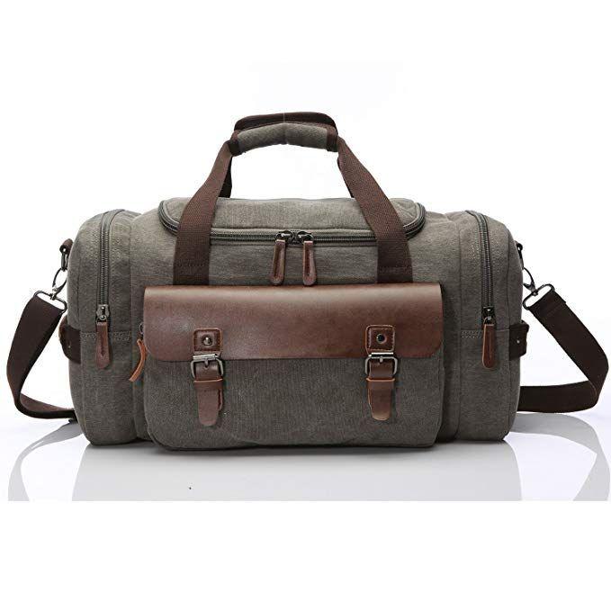 Canvas Duffel bag Overnight Travel Bags Travel Duffel Bag for Men Canvas 1bb61b0dd0b7b