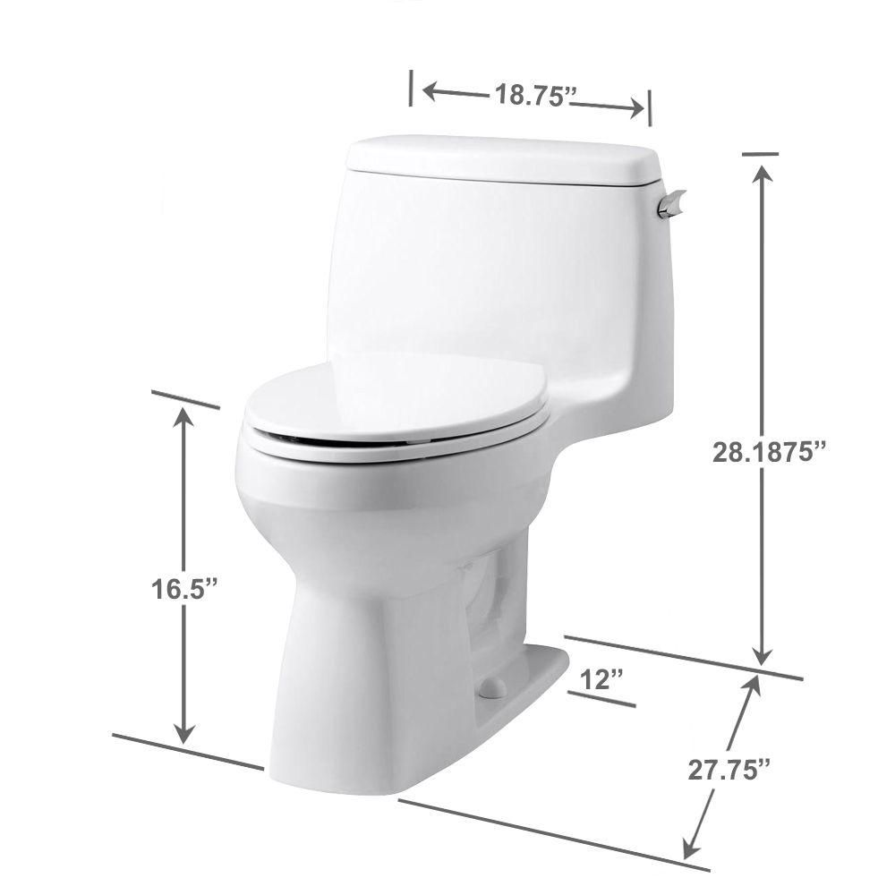 Kohler Santa Rosa Comfort Height 1 Piece 1 28 Gpf Compact Single