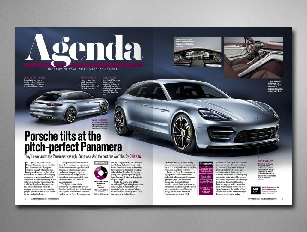 Car Magazine Front Section Layout Pinterest Magazine Design