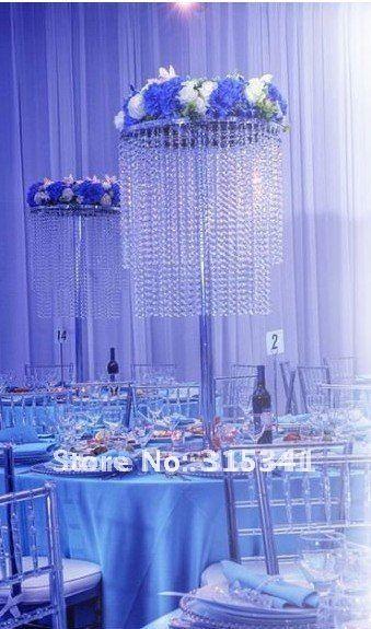 Free Shipment 10PCS Lots Acrylic Crystal Wedding Centerpiece 80cm Tall 30cm