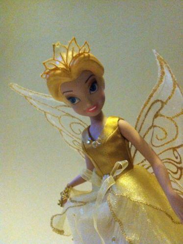 Brass key disney fairies rare queen clarion porcelain doll ...