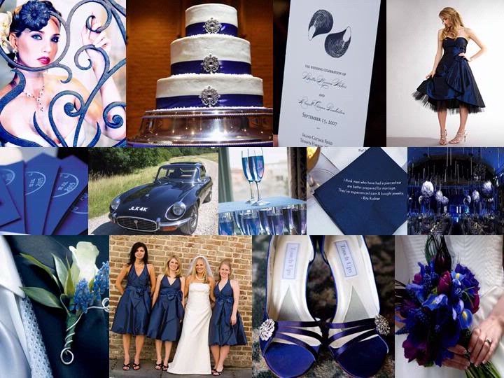 A Navy Silver And White Wedding Combination By Perfect Palette