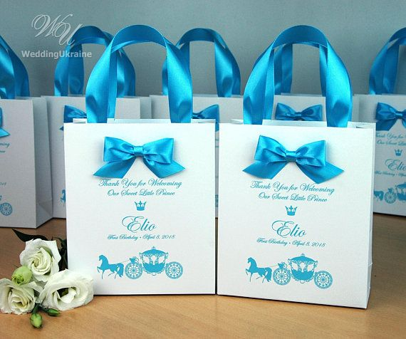 1st Birthday Gift Bags For Favors Personalized Thank Your Bag With
