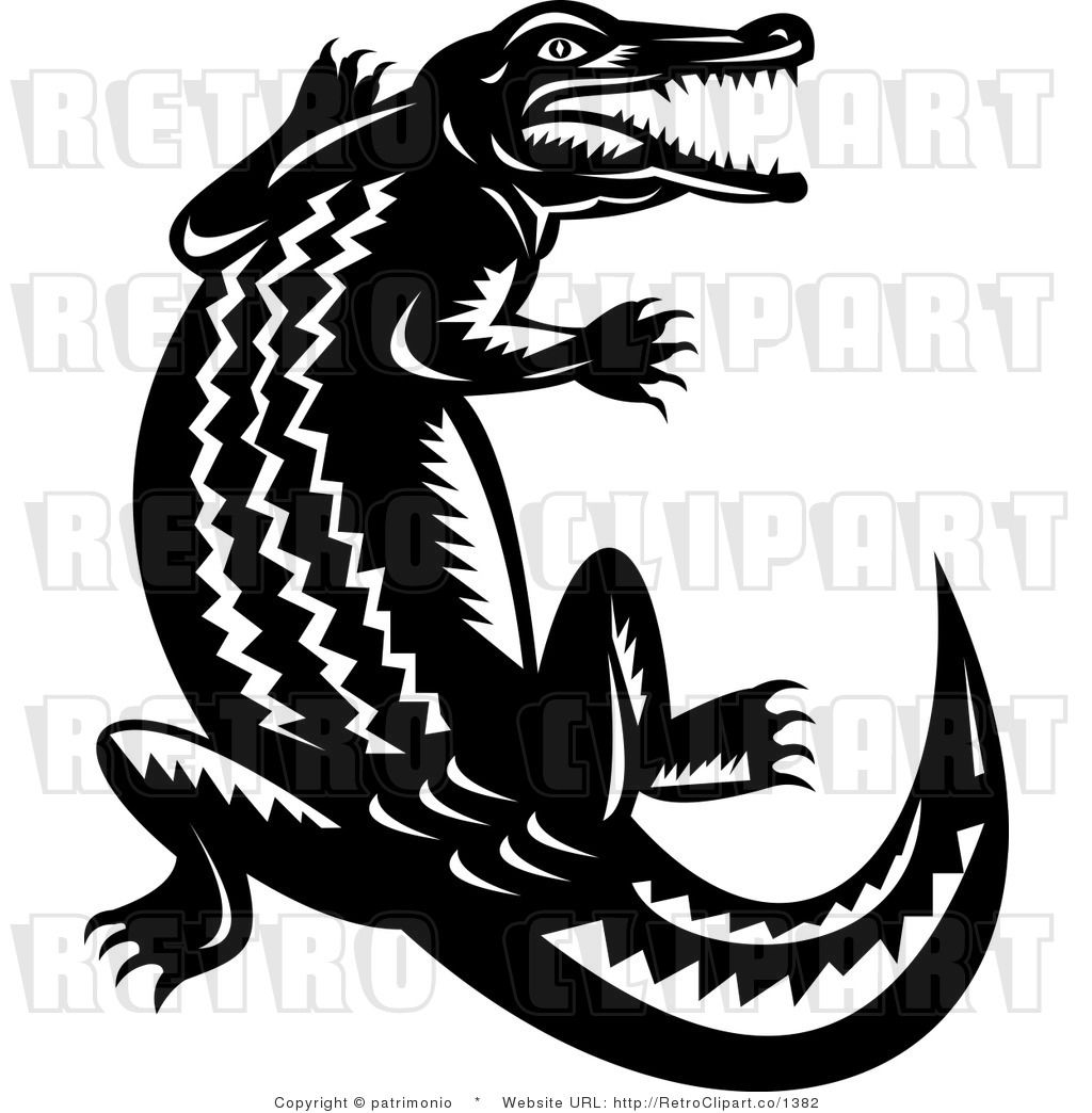 Crocodile Clip Art Black And White | Stamps to Carve | Pinterest ... for Clipart Crocodile Black And White  150ifm