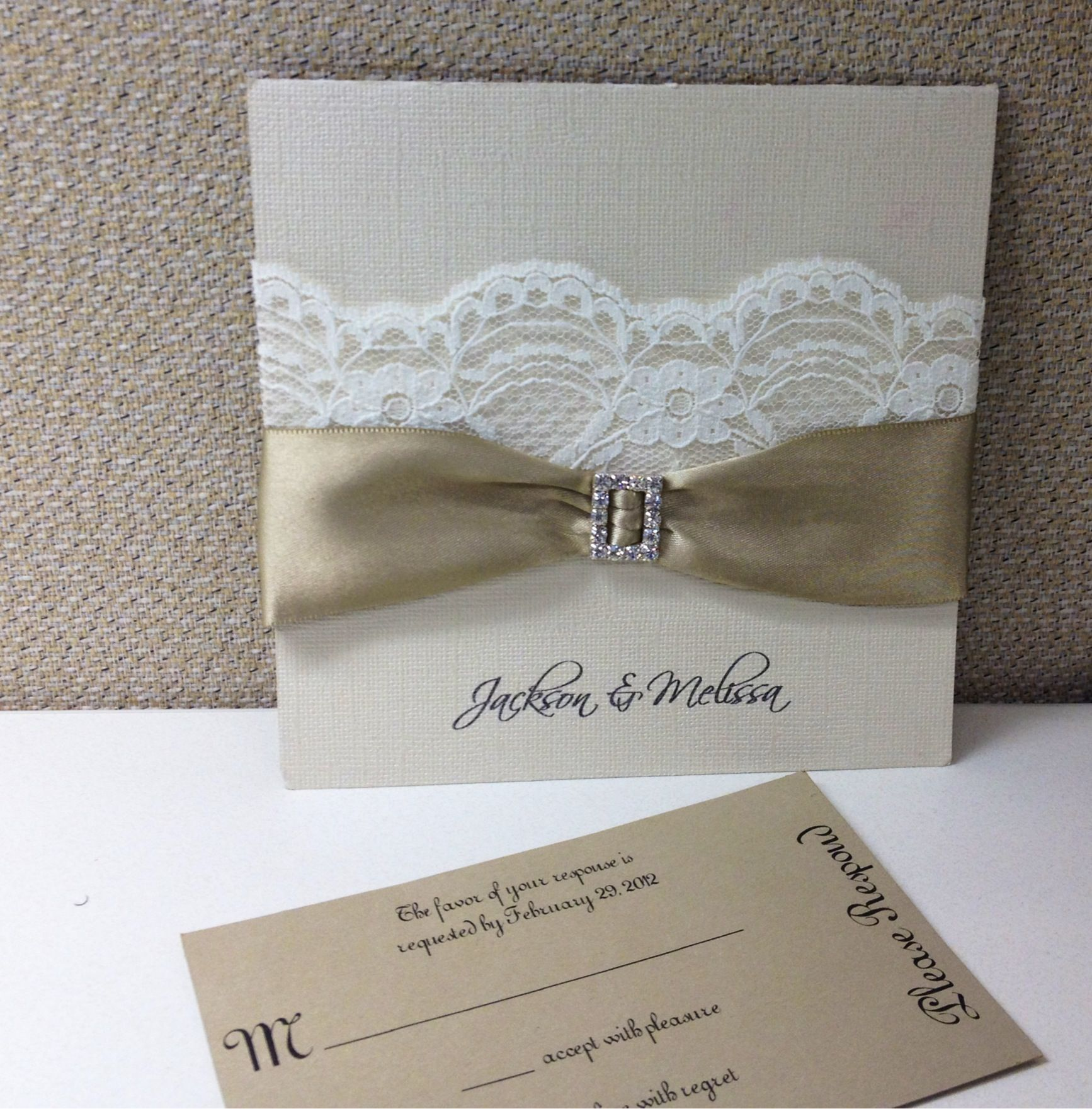 Vintage Wedding Invitation From Marshay Boutique