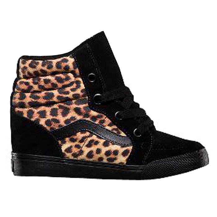 basket vans leopard