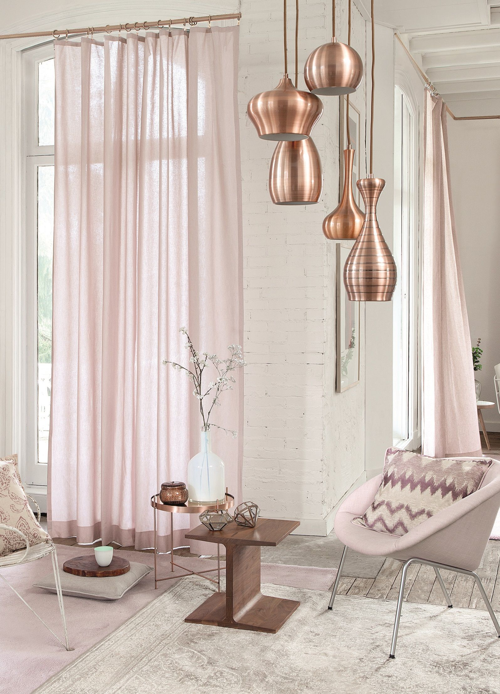 mooi: pastel roze in between gordijnen | Home | Pinterest | Vorhänge ...