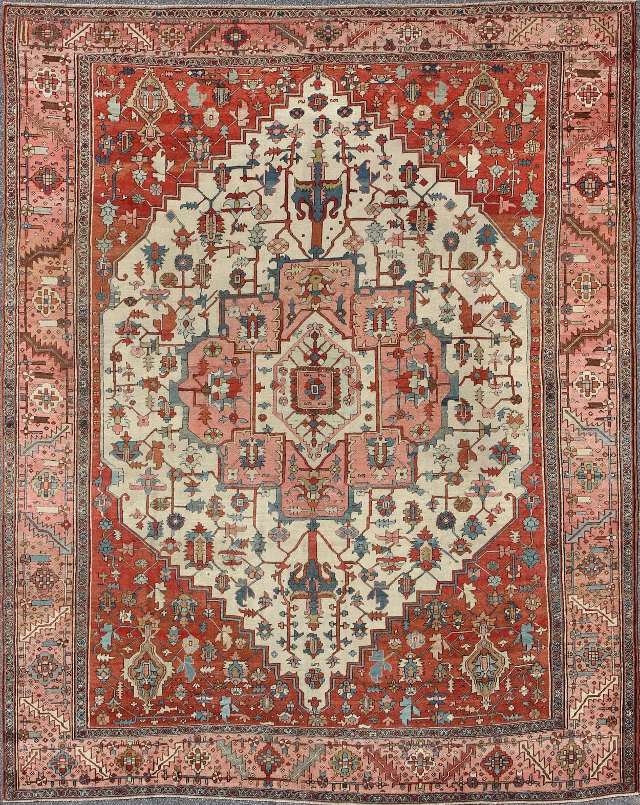 Antique Serapi Rug M14 0806 Serapi 8 8 X 12 0 Wool Medallion Pile Origin Iran Circa 1900 Rugs On Carpet Tribal Carpets Buying Carpet