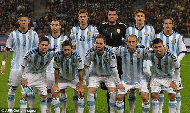 Výsledek obrázku pro Argentina national team