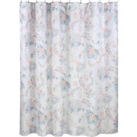 InterDesign Shelby Fabric Shower Curtain Orange