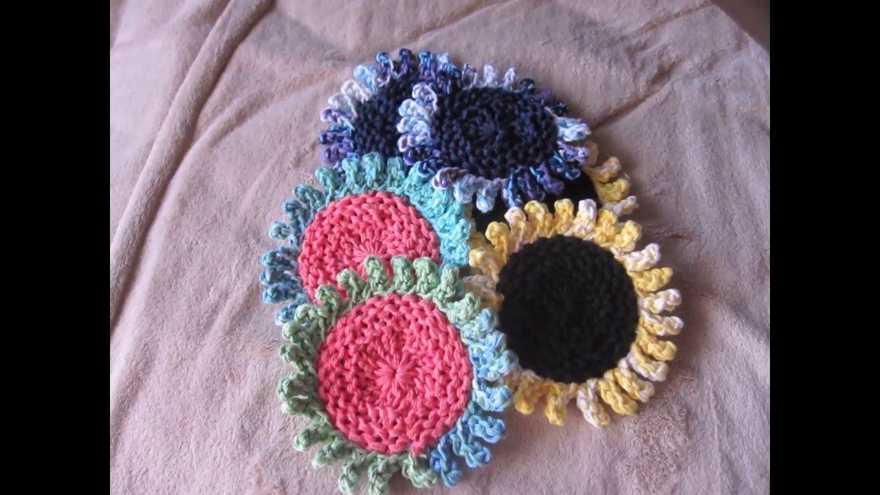 Sunflower Coasters Loom Knitted Youtube Loom Knitting
