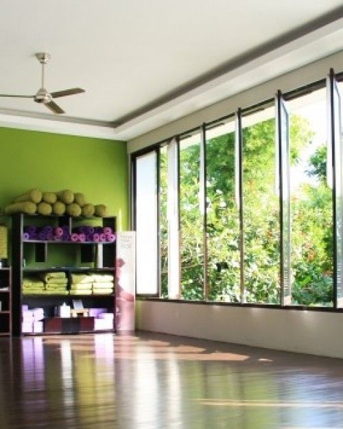 Yoga room - minimalist design where accessories are embraced as ...