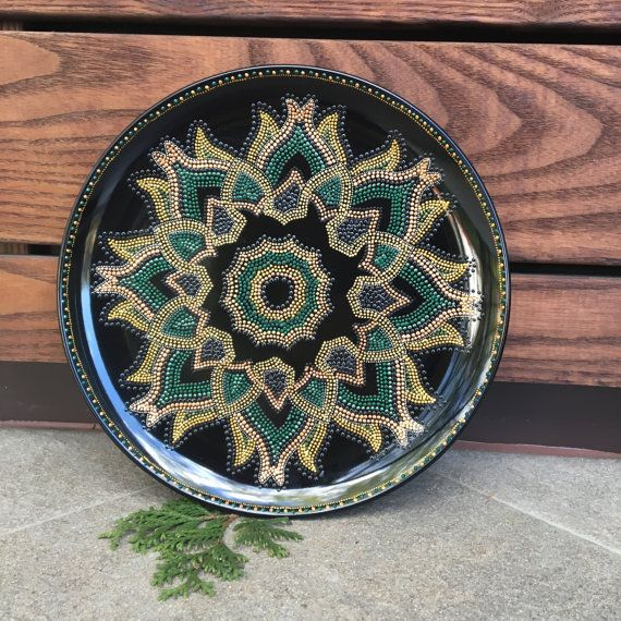 Hand painted decorative plate Oriental fancy Handmade Home decor