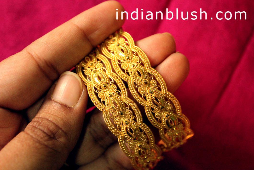 gold gajra bangle round pattern - Google Search | Way too Pretty ...