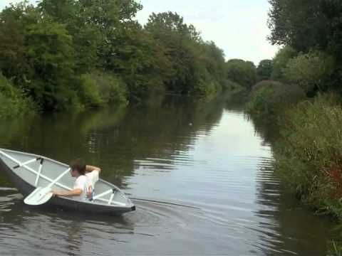 Duct tape boat - YouTube