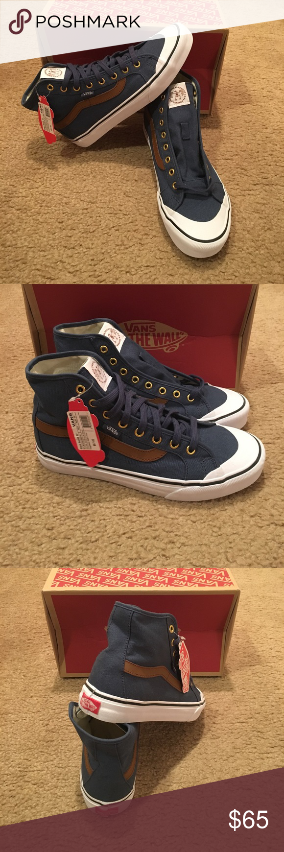 Cage The Elephant Black Ball HI SF Vans New with tags. Dark denim Vans Shoes Sneakers
