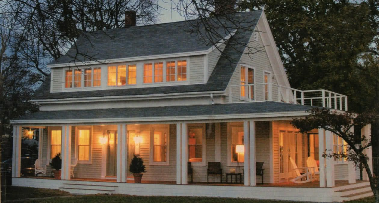 Love love railless porch plus the dormer adds a lot for Cape cod dormer addition