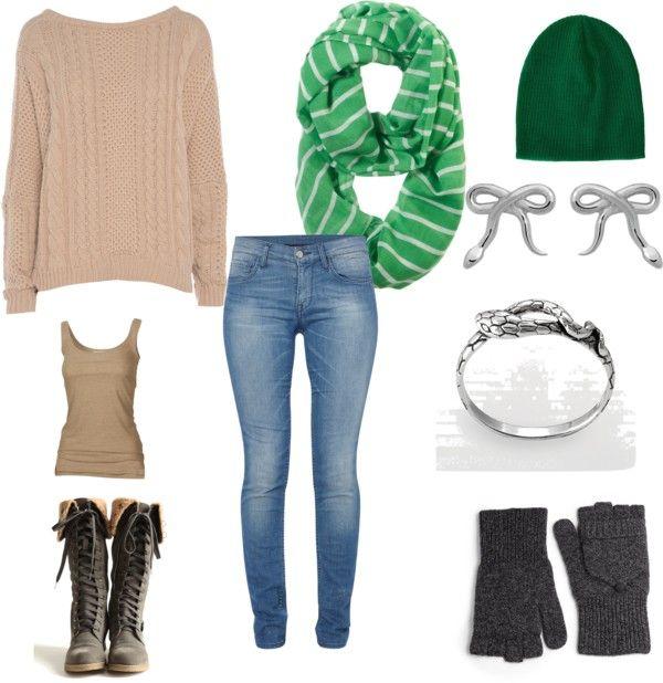 """Green Winter"" by carolinemartin on Polyvore"