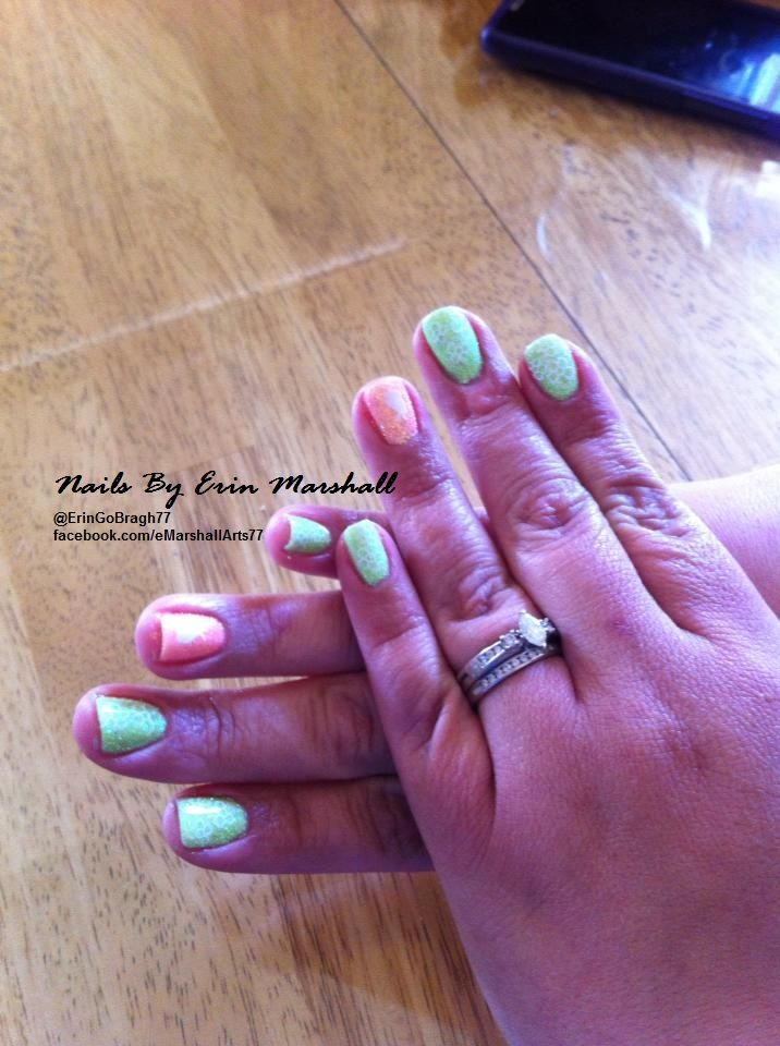 Easter gel polish with pastel glitters Acrylic nails #nailart  Www.facebook.com/eMarshallArts77