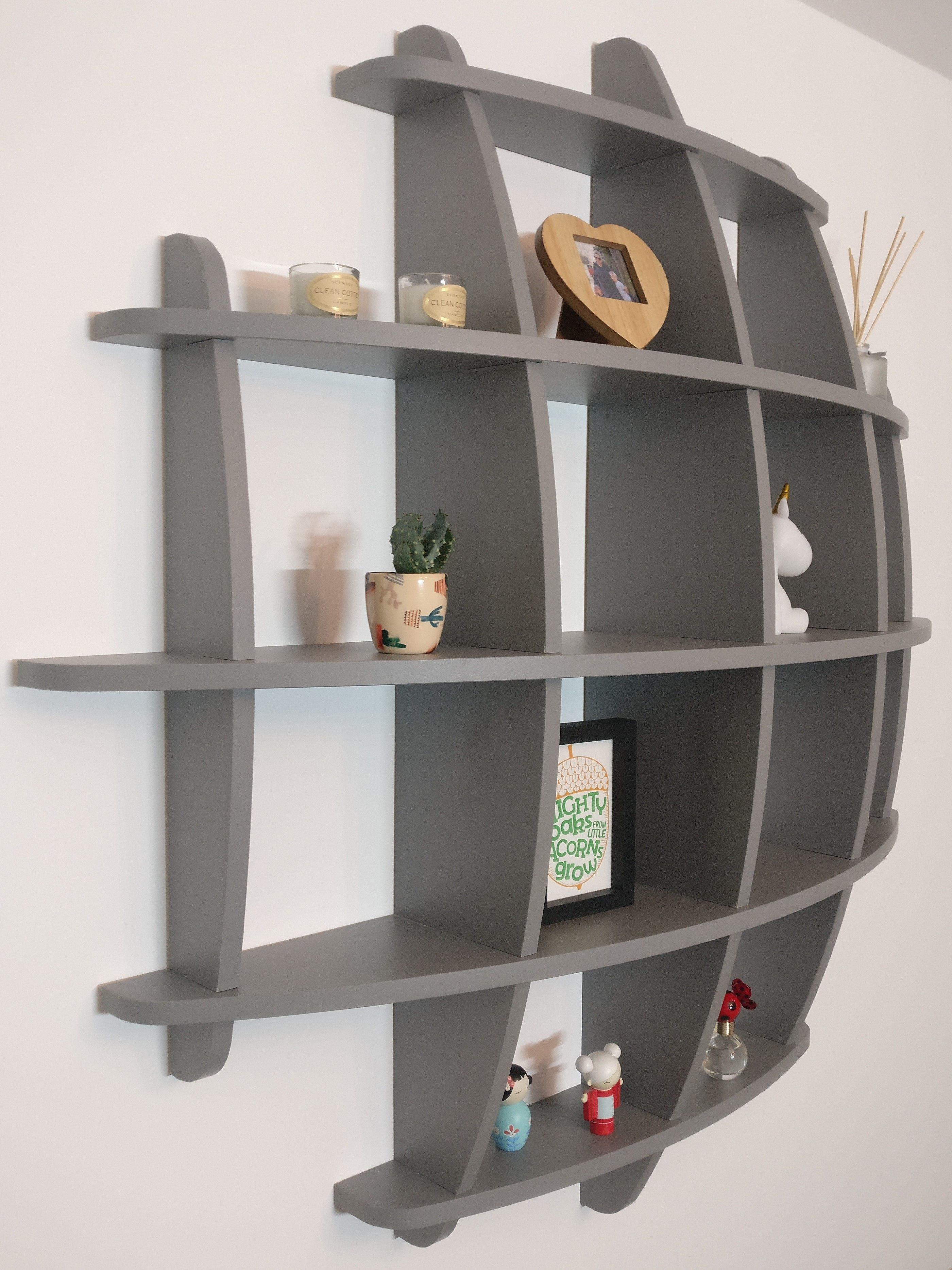 Curved Shelving Unit By Airedale Interiors Palette Furniture Coffee Bar Home Shelves In Bedroom